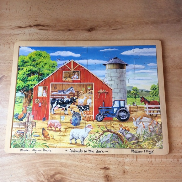 Melissa Doug Animals In The Barn Wood Puzzle
